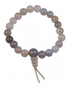 Bracelet mala tibétain Agate rubanée