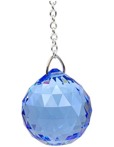 Boule de Cristal à facettes 30 mm Saphir Medium Vishuddha
