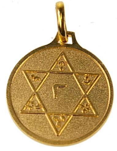 Médaille Sceau de Salomon doré