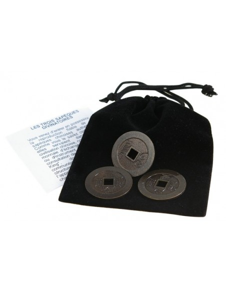 Les 3 Sapèques du Yi-King (laiton)
