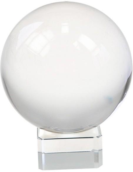 Boule de cristal 8 cm + Support