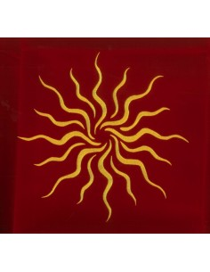 Tapis rouge 80 x 80 cm Soleil