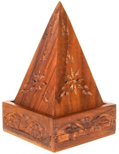 Porte encens Pyramide en Bois