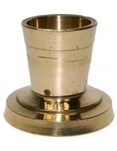 Porte bougie en laiton doré 3,5cm
