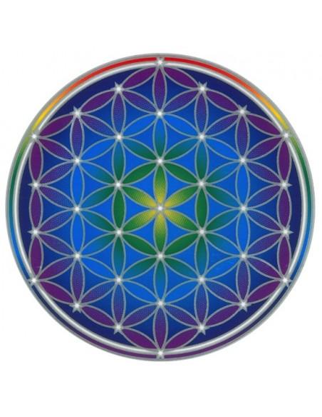 Autocollant Attrape Soleil Fleur de Vie - Flower of Life Mandala