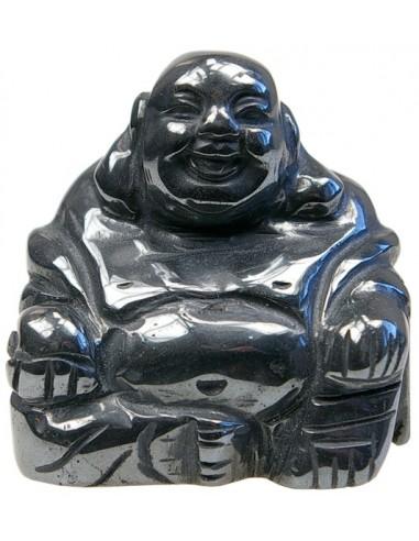 Bouddha Rieur Assis 4 cm Hematite