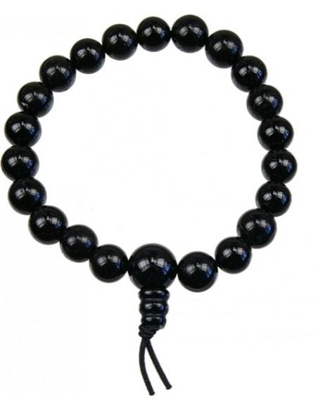 Bracelet mala tibétain Onyx noir