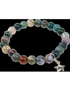 Bracelet Art de la chance Agate Multicolore