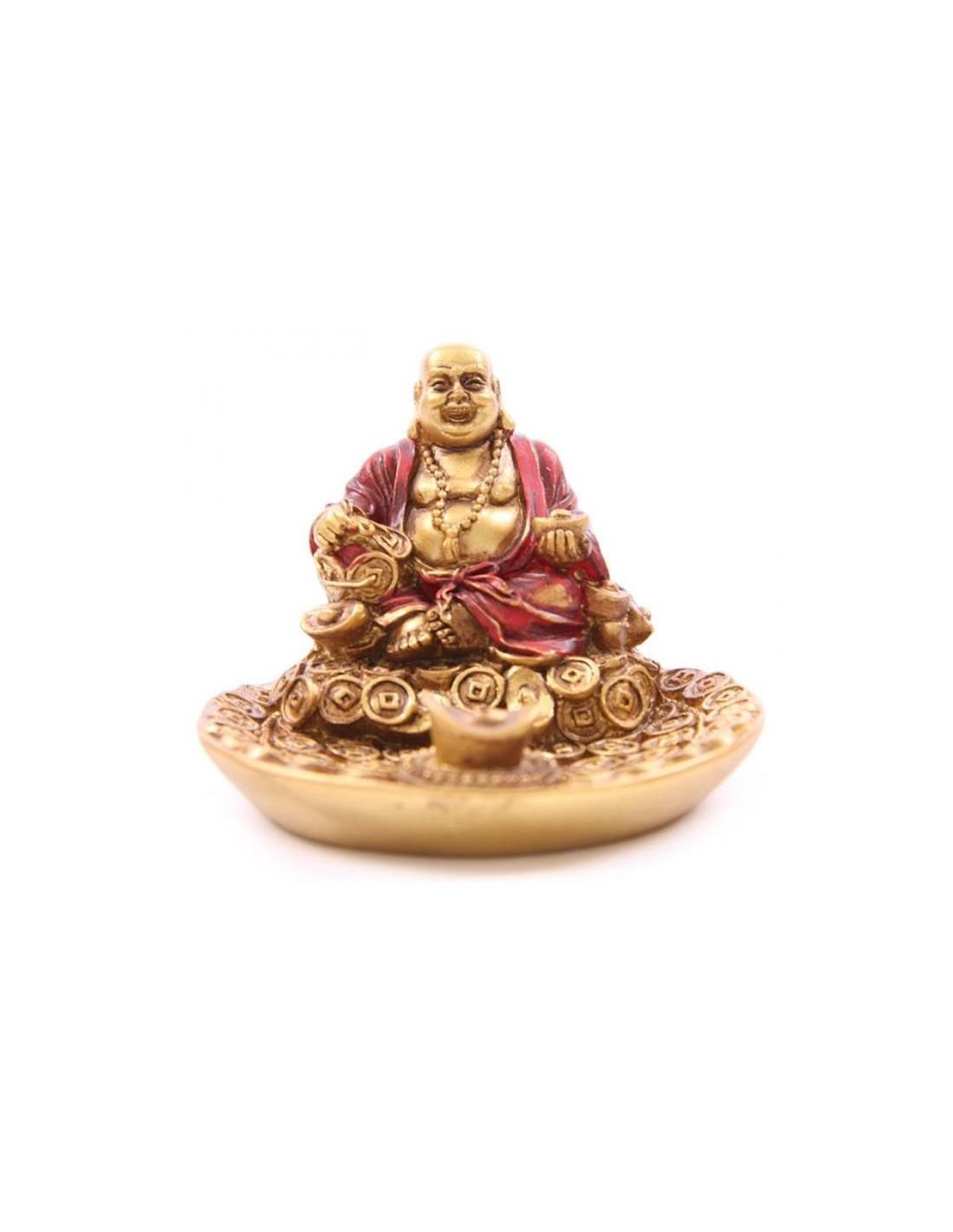 porte encens bouddha souriant rouge or e soteria On porte encens