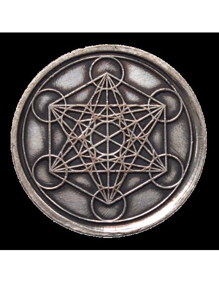 Pièce sacrée Métatron cuivre 4 cm