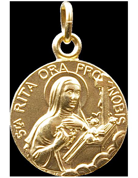 Médaille de Sainte Rita dorée