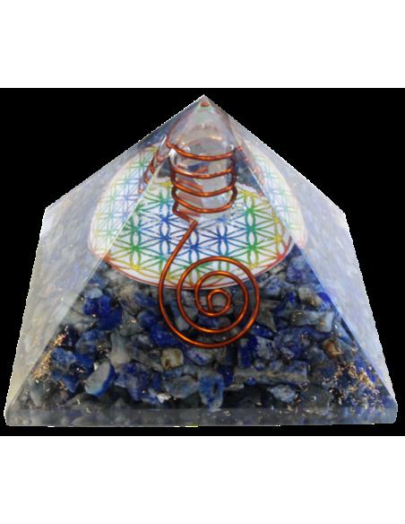 Pyramide Orgonite Fleur de Vie 7 cm