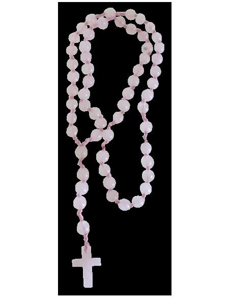 Chapelet pierres fines 6 mm Quartz Rose