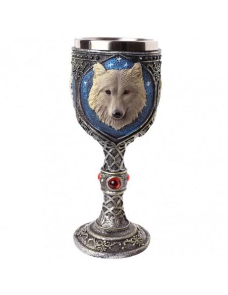 Calice décoratif motif loup