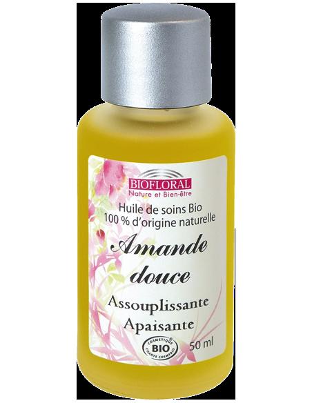 Huile végétale amande douce - cosmebio - 50 ml