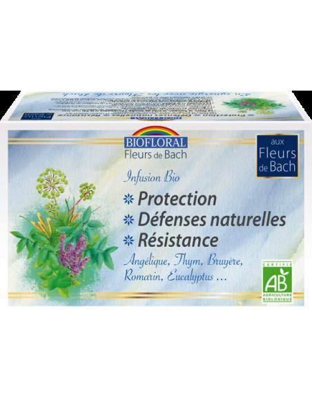 Infusion Fleurs de Bach protection - bio