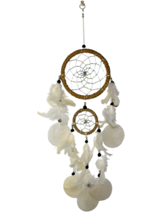 Dreamcatcher plume Grand Modèle - Naturel