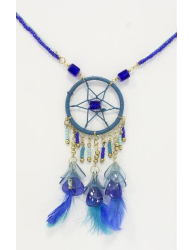 Collier Dreamcatcher Bleu