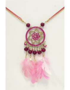 Collier Dreamcatcher Rose