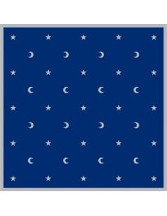 Tapis bleu Lunes et étoiles