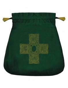 Bourse Velours Croix celtique