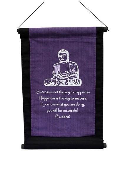 Tenture Bouddha Violette