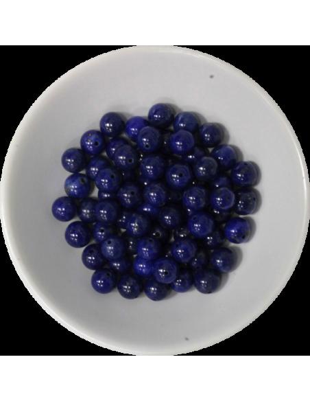 Perles Lapis Lazuli 6 mm Sachet de 66 perles