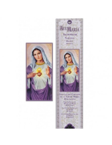 Pochette encens Sacré Coeur de Marie - 15 bâtonnets