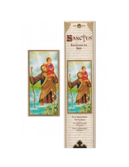 Pochette encens Saint Christophe - 15 bâtonnets