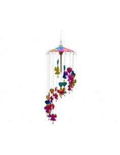 Mobile Anges colorés en papier Saa