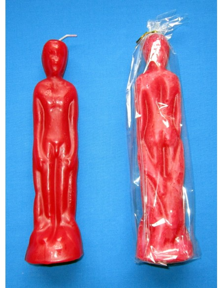 Bougie figurative Corps d'homme Rouge