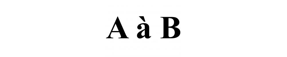 Pierres A à B