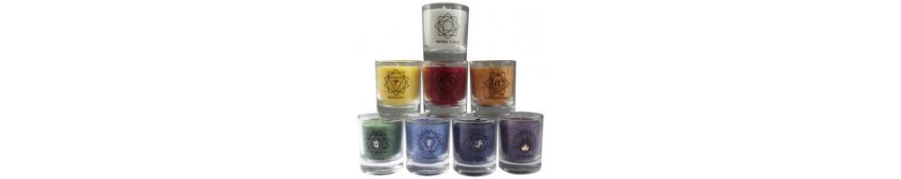 Une sélection de bougies Chakras